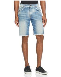 Denim Cutoff Straight Fit Shorts In Dunn