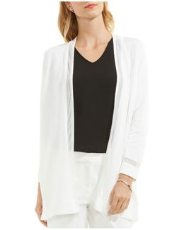 Sheer Trim Cardigan