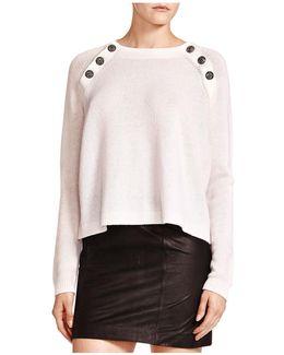 Button-detail Cashmere Sweater