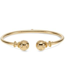 18k Yellow Gold Cosmos Bellina Bangle With Diamonds