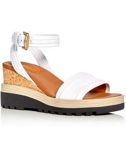 Robin Ankle Strap Platform Wedge Sandals