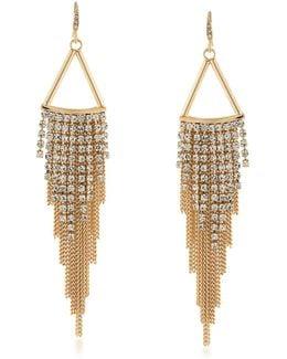 Embellished Chain Drop Earrings