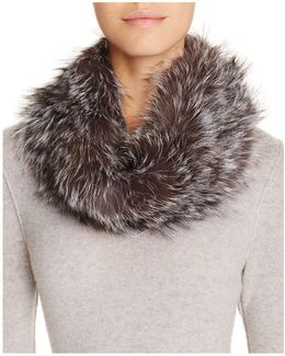 Fox Fur Infinity Loop Scarf