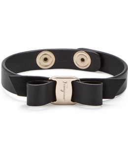 Ferragamo Vara Bow Leather Bracelet