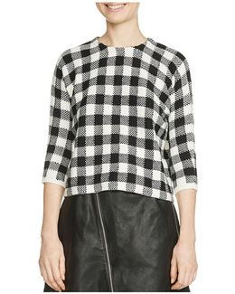 Max Gingham Sweater