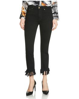 Panako Cropped Jeans In Black