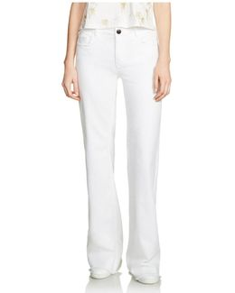 Pavara Flared Jeans In White