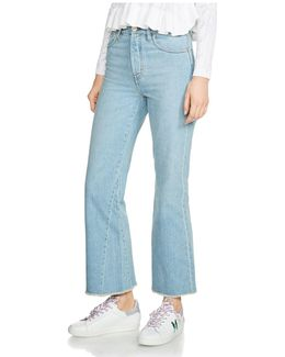Prudy Cropped Flare Jeans In Blue