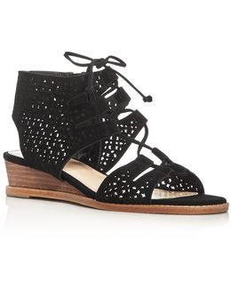 Retana Suede Wedge Sandals