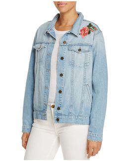 Guilty Pleasure Embroidered Denim Jacket