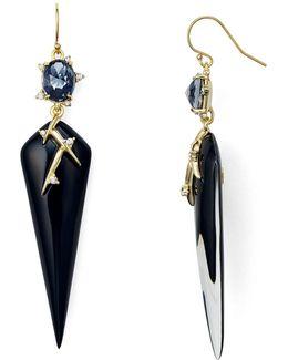 Satellite Crystal Spike Drop Earrings