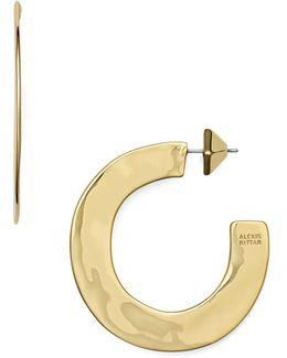 Liquid Metal Sheet Hoop Earrings