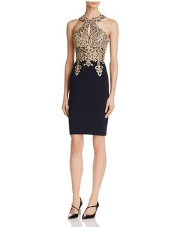 Embellished-bodice Dress