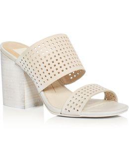 Esme Perforated High Heel Slide Sandals