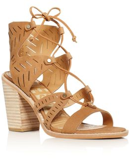 Luci Lace Up High Heel Sandals