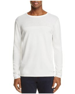 Perforated Cotton Sweater