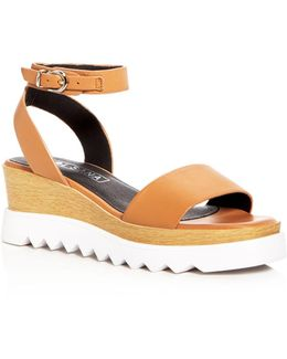 Tray Ankle Strap Wedge Sandals