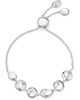 Sterling Silver Glamazon® Pebble And Chain Bracelet