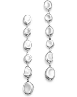 Sterling Silver Glamazon® Linear Pebble Earrings