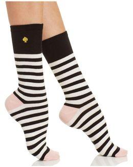 Saturday Stripe Crew Socks