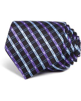 Double Line Check Classic Tie
