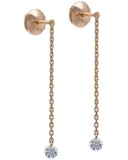 18k Rose Gold 360 Diamond Drop Earrings