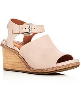 Gerry Nubuck Wedge Sandals