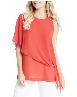 Asymmetric Side-tie Blouse