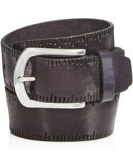 Scored Edge Belt With Harness Buckle
