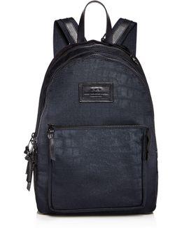 Croc Embossed Ballistic Nylon Backpack