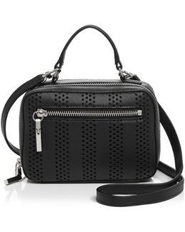 Perforated Stripe Mini Crossbody