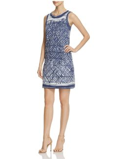 Blue Crush Print Dress