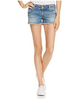 Keira Cutoff Shorts In Gypset Blue
