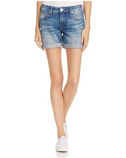 Emma Boyfriend Shorts In Blues Fest