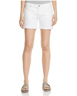 Emma Denim Shorts In Optic White