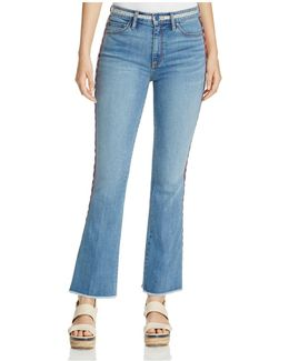 Amy Embroidered Skinny Flared Jeans