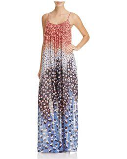 Blue Dahlia Abstract Dot Maxi Dress