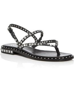 Peps Stud Embellished Slingback Sandals