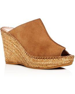 Cici Espadrille Wedge Slide Sandals