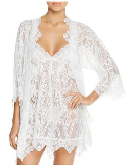 Wrapper Lace Robe