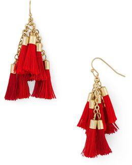 Katie Multi Tassel Drop Earrings
