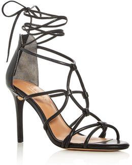 Brielle Caged Ankle Tie Sandals