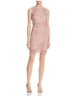 Lace Body-con Sleeveless Dress