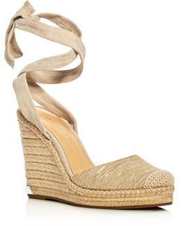 Winikka Ankle Tie Espadrille Wedge Sandals