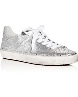 Michell Metallic Lace Up Sneakers