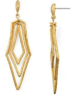 Paris Triple Geometric Drop Earrings