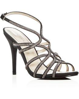 Helena Embellished Satin High Heel Sandals