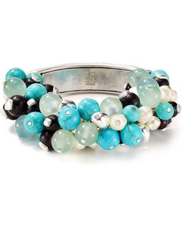 Cluster Beaded Stretch Bangle
