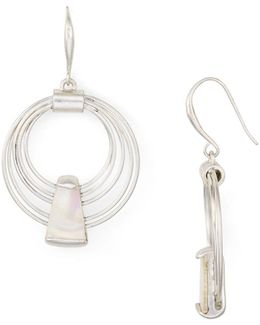 Layered Hoop Drop Earrings