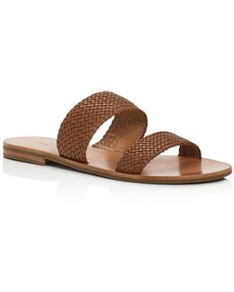 Ruth Woven Slide Sandals